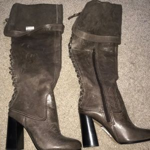 Vince Camuto leather boots 8 brown